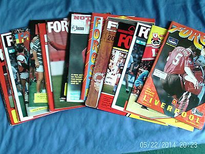 16 X Nottingham Forest V Liverpool Programmes ( All Different Years  )
