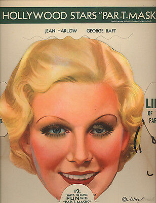 Vintage 1930s  Par-T-Masks Einson-Freeman Set Raft & Harlow Original Wax Sleeve