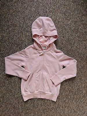 Gorgeous Pale Pink Zip Front Hooded Top NEXT age 7 (6-7)