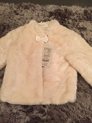 Monsoon Faux Fur Coat Age 2 To 3 Years