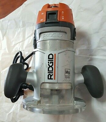 """Ridgid R2901 Variable Speed Corded Router 1/2"""" Collet Extra Plunge R29202"""
