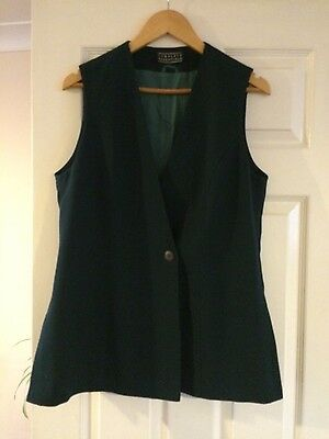 Womens jade green Trouser suit Size 14