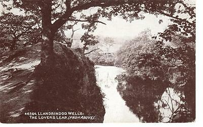 Wales - Llandrindod Wells, The Lovers Leap (Photochrom)
