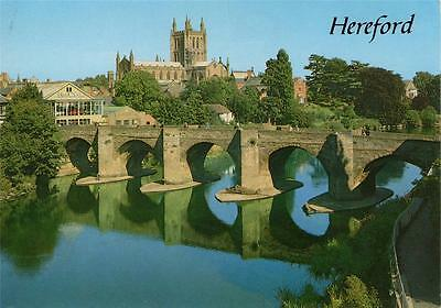 Herefordshire - Wye Bridge & Cathedral, Hereford (Salmon)