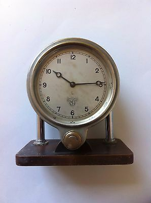 Vintage Smiths of Cricklewood coach / motor vehicle clock on stand