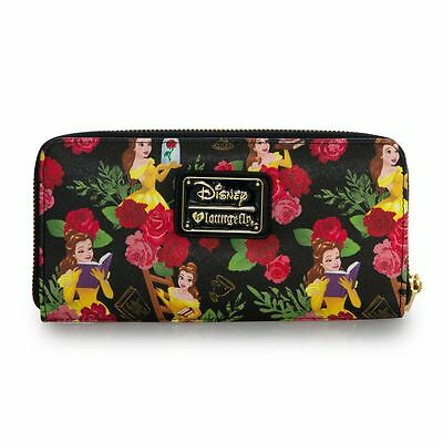 Disney Beauty and the Beast Wallet Belle Wallet Floral Loungefly NEW RELEASE