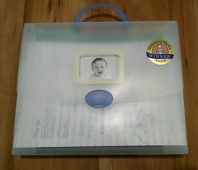 Baby Briefcase Baby Paperwork Organizer Periwinkle New opened