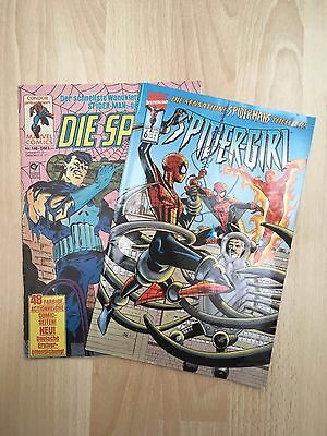 2x Spiderman / Die Spinne Comic