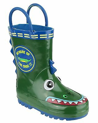 *NEW BOXED* Cotswold Crocodile Puddle Wellies / Kids Childs Wellington Boots