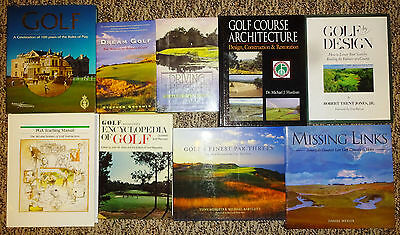 Golf Book Collection - Lot of 9 Books (Architecture Emphasis)