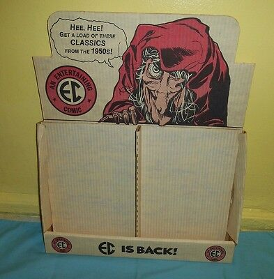 vintage EC COMICS RETAIL STORE COUNTER DISPLAY BOX only