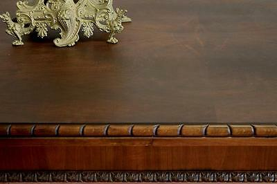 Antique French Chippendale 2 Leaf Extension Dining Kitchen Table Walnut  c1930