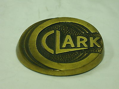 Vintage Clark Forklift Advertising Brass Paperweight