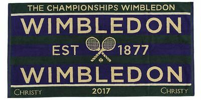 Wimbledon The Championship 2017 Official Mens Tennis Towel New In Travel Case