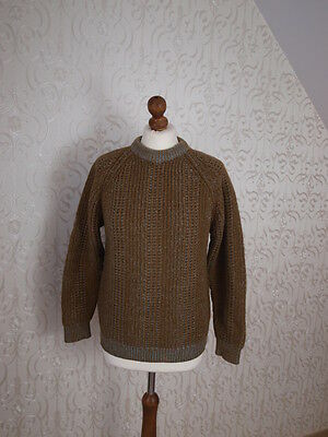 Kilspindie designer wool jumper app 12 crew neck heavy quality cable knit chunky