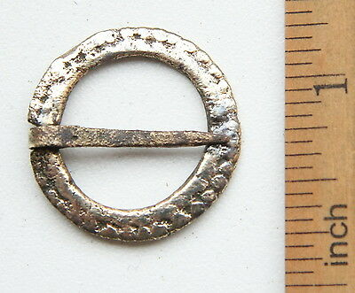 Ancient Old Ornament Bronze Fibula Brooch (DEC07)