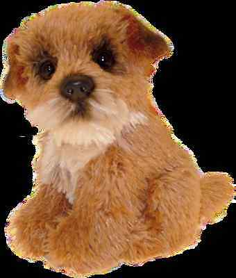 """Border Terrier puppy 6"""" Soft Toy Faithful Friends new"""