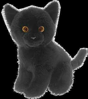 "Cat black  6"" soft toy by Faithful Friends new"