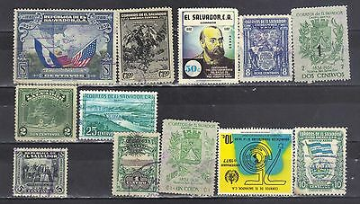 El Salvador- Lot Of Early used Stamps (106)