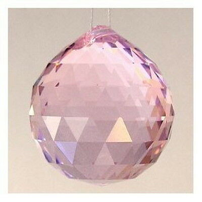 Chinese Feng Shui Pink Crystal Ball Prisms 12368 S-3300 AU