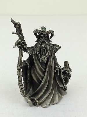 """Vintage Hudson Pewter Winged Dragon and Wizard """"Liberty"""" 1988 #4849"""
