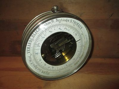 Antique German Aneroid Barometer - Hang or Stand Alone