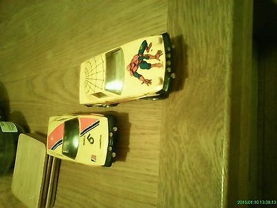 scalextric spider man TR7 and a normal TR7