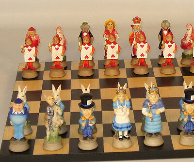 Themed Chess Set featuring Alice in Wonderland Characters