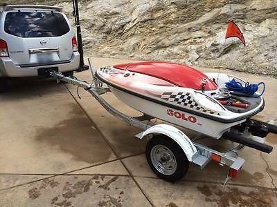 New Solo Watersport Personal Ski Drone Unmanned Tow Boat Rare Jet Drive Soloski