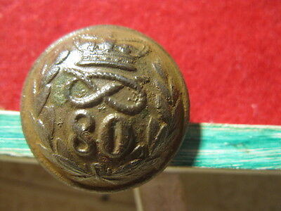 Detecting Find 80Th Staffordshire Volunteers A Foot  Military Button