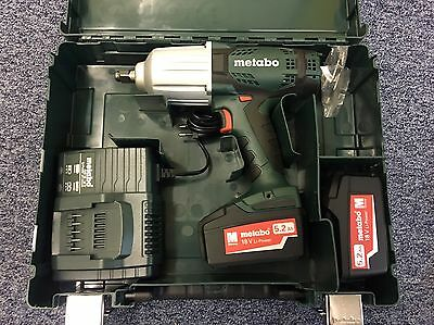 Metabo SSW18LTX 600 Impact Wrench 18V Cordless li-ion, Charger (2 x 5.2Ah Batts)