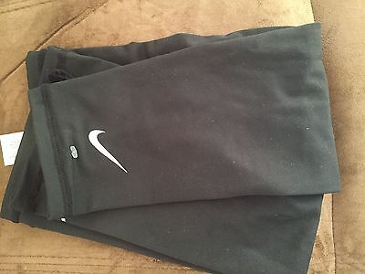 Nike Lightweight Running Sleeves Black Silver Reflective L/XL One Pair Dri-Fit