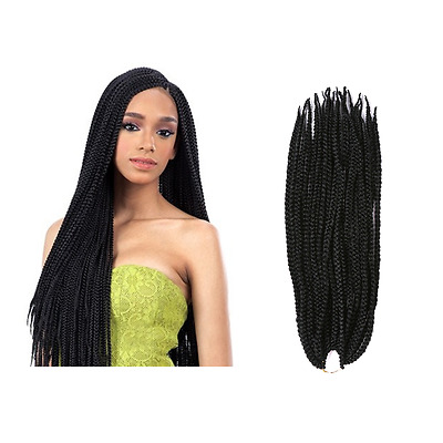 18 Inch Crochet Style Box Braids Top Synthetic Human Hair Blend Pre