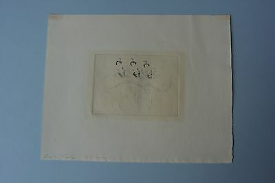 Troy Kinney Original Pencil Signed Etching