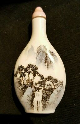 Antique Porcelain Chinese Snuff Bottle c. 1920s