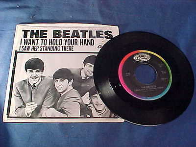 1960s The BEATLES 45 Record I WANT TO HOLD YOUR HAND w Orig PICTURE SLEEVE