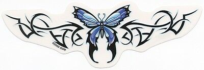 PRETTY SKY BLUE BUTTERFLY TATTOO STYLE STICKER/DECAL Waterproof Indoor/Outdoor
