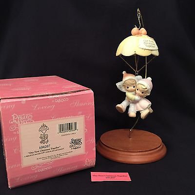 """Precious Moments-#104207 """"Our First Christmas Together"""" Ornament 2002"""