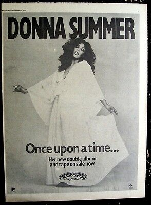 DONNA SUMMER 1977 Poster Ad ONCE UPON A TIME casablanca