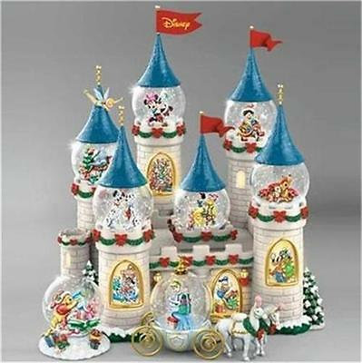 Disney Christmas At The Castle Snowglobe Collection MUSIC & LIGHT NEW