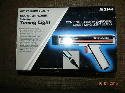Sears Craftsman Inductive Timing Light Gun Complete w/Box 28-2144