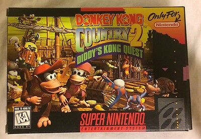 Donkey Kong Country 2 - Super Nintendo - Box and Cardboard Insert Only