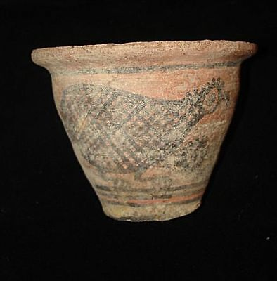 UNIQUE ANCIENT PAINTED CUP-BOWL! FROM EARLY BRONZE AGE! 3000BC~~~no reserve