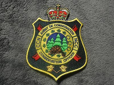 """Hard to find Ottawa Ontario Canada NCC """"Conservation Officer"""" Patch!"""