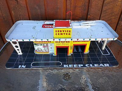Vintage MARX Litho Garage Service Center with a Truck