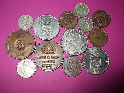 Collection Of World Coins - Sweden