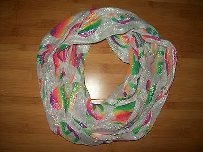 Justice Girls OSFM Infinity Peace Sign Scarf Accessory