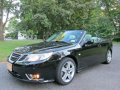 2008 Saab 9-3 2.0T Convertible 2-Door AAB 9 3 CONVERTIBLE 2008 BLACK TAN RECENT TOP AERO WHEELS SHARP VEHICLE!