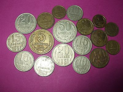 Collection Of World Coins - Ussr Russia Cccp