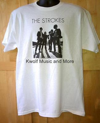 "THE STROKES  T Shirt   ""Band (on white)""   Official/Licensed    Size:LG  NEW"